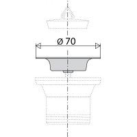 VALENTIN REF.57100000000 BONDE SIPHOIDE D.40 RECEVEUR D.90 PLAST