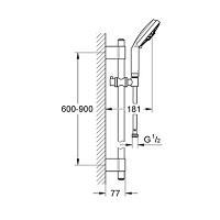 DOMAO REF.ADX02 FLEXIBLE LG 1M50 LAITON CHROME